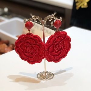 Roses Red earrings 🌹